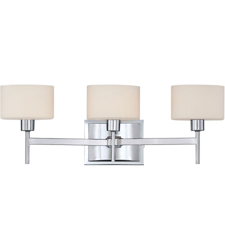 Quoizel lighting asheton 3 light bath in polished chrome for Z gallerie bathroom lights