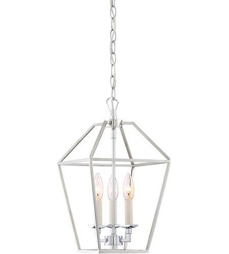 Quoizel avy5203pk aviary 3 light 10 inch polished nickel foyer quoizel avy5203pk aviary 3 light 10 inch polished nickel foyer pendant ceiling light mozeypictures Image collections