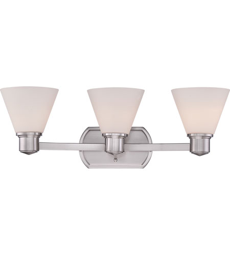 Quoizel Bathroom Vanity Lights : Quoizel Lighting Ayers 3 Light Bath Vanity in Brushed Nickel AYR8603BN