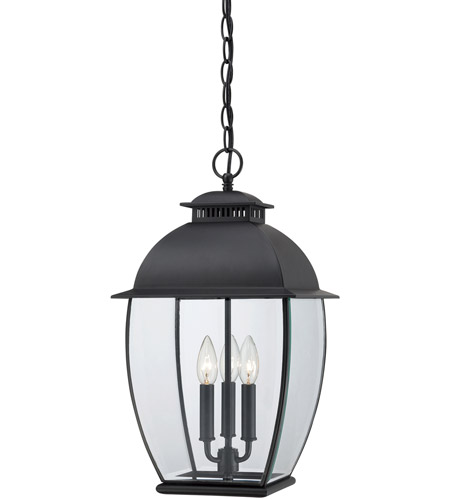 Quoizel BAN1911K Bain 3 Light 12 inch Mystic Black Outdoor Hanging Lantern photo