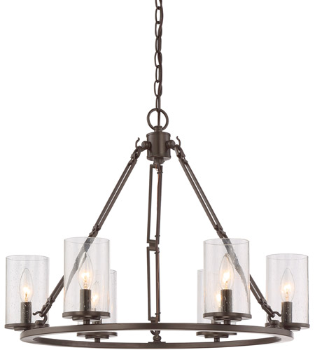 Quoizel BCN5006WT Buchanan 6 Light 25 inch Western Bronze Chandelier Ceiling Light photo
