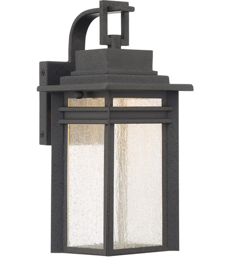 Quoizel BEC8406SBK Beacon 13 inch Stone Black Outdoor Wall Lantern photo