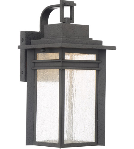 quoizel bec8408sbk beacon 15 inch stone black outdoor wall lantern