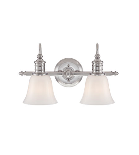Quoizel BGT8602BN Broadgate 2 Light 18 Inch Brushed Nickel Bath Vanity Wall  Light