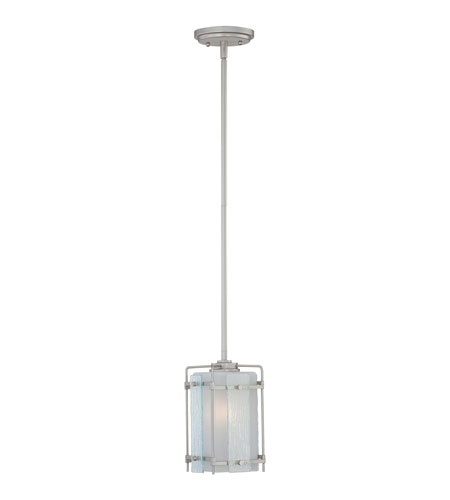 Quoizel Lighting Bailey 1 Light Mini Pendant in Steel Grey BLY1505SY photo