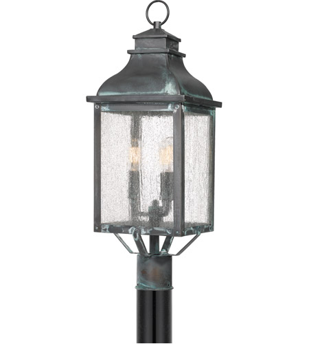 Quoizel Brs9009agv Branson 3 Light 25 Inch Aged Verde Outdoor Post Lantern Photo
