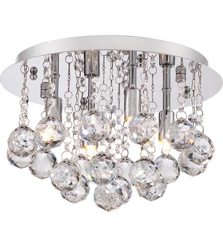 quoizel lighting bordeaux 4 light flush mount in polished chrome