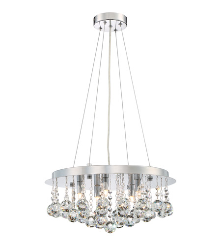 Quoizel Brx2818c Bordeaux 5 Light 18 Inch Polished Chrome Pendant Ceiling
