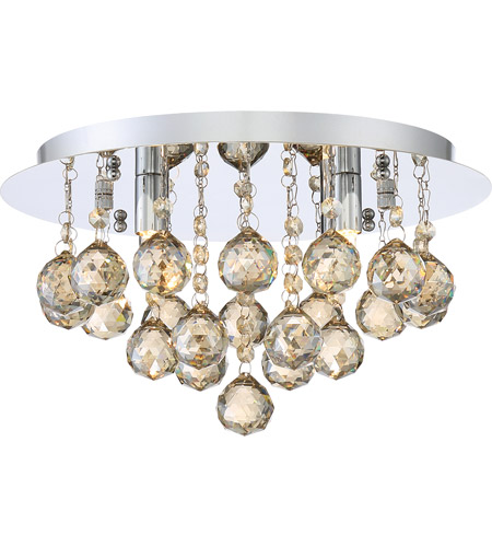 Quoizel Brxa1614c Bordeaux 4 Light 14 Inch Polished Chrome Flush Mount Ceiling