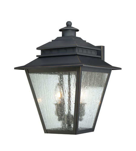 Quoizel Lighting Carson 2 Light Outdoor Wall Lantern in Weathered Bronze CAN8411WB photo