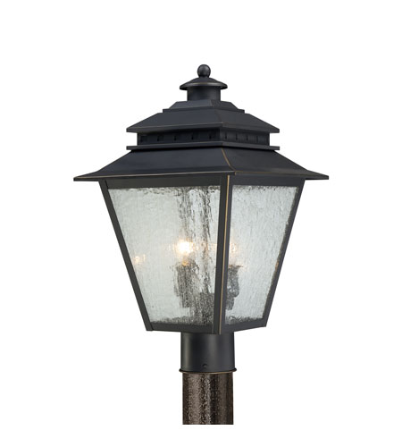 Quoizel Lighting Carson 2 Light Outdoor Post Lantern in Weathered Bronze CAN9011WB photo