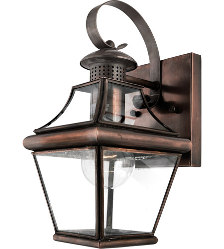 Quoizel Lighting Carleton 1 Light Outdoor Wall Lantern in Aged Copper CAR8406AC photo