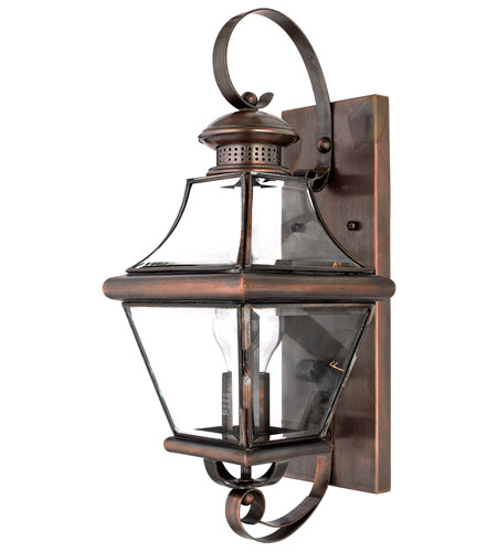 Quoizel CAR8728AC Carleton 1 Light 18 inch Aged Copper Outdoor Wall Lantern photo