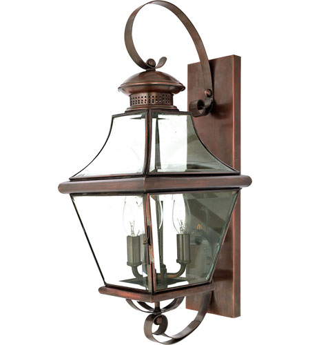 Quoizel Outdoor Lighting Quoizel lighting carleton 3 light outdoor wall lantern in aged quoizel lighting carleton 3 light outdoor wall lantern in aged copper car8729ac workwithnaturefo