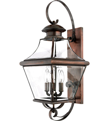 Quoizel Lighting Carleton 4 Light Outdoor Wall Lantern in Aged Copper CAR8730AC photo