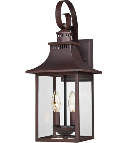 Quoizel CCR8408CU Chancellor 2 Light 19 inch Copper Bronze Outdoor ...