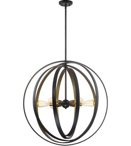 Quoizel Cct2830wt Circuit 6 Light 30 Inch Western Bronze Foyer