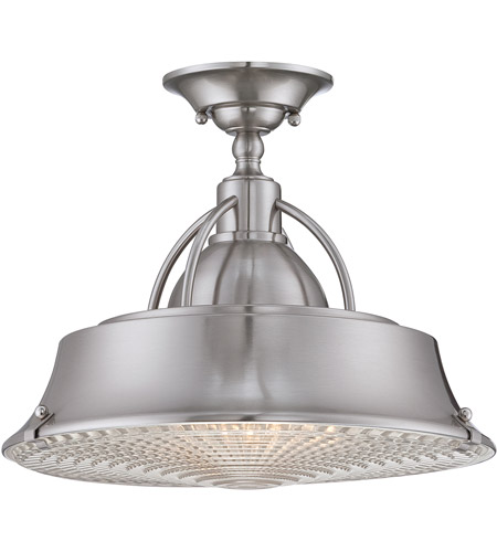 Quoizel CDY1714BN Cody 2 Light 15 Inch Brushed Nickel Semi Flush Mount  Ceiling Light