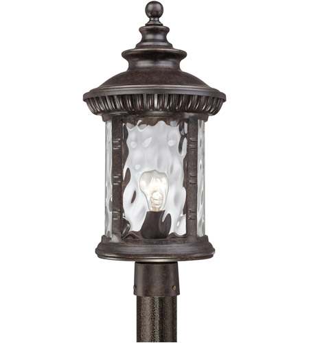 Quoizel Lighting Chimera 1 Light Outdoor Post Lantern in Imperial Bronze CHI9011IB photo