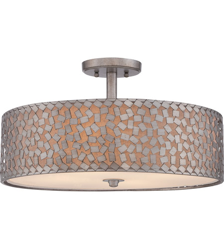 Quoizel CKCF1720OS Confetti 4 Light 20 inch Old Silver Semi-Flush Mount Ceiling Light photo