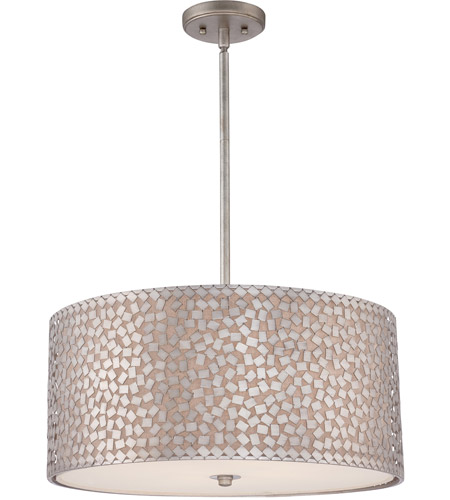 Quoizel Ckcf2822os Confetti 4 Light 22 Inch Old Silver Pendant Ceiling