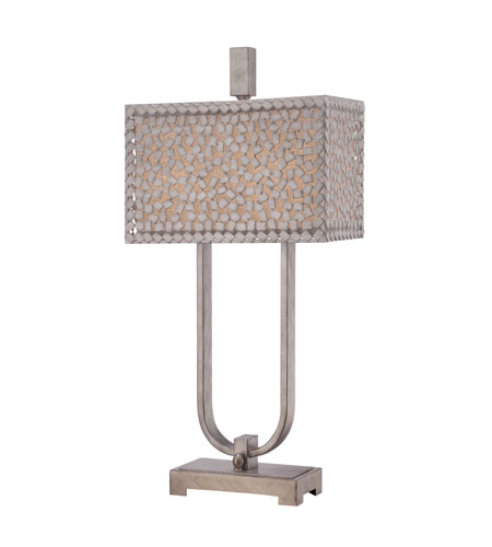 Quoizel CKCF6330OS Confetti 30 inch 75 watt Old Silver Table Lamp Portable Light photo