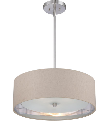 Quoizel CKMO2820BN Metro 3 Light 20 inch Brushed Nickel Pendant Ceiling Light photo