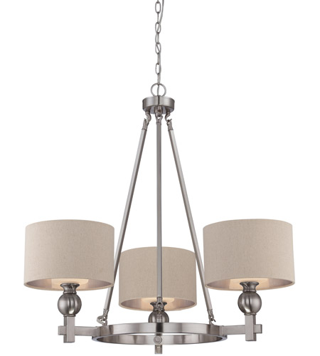 Quoizel Ckmo5003bn Metro 3 Light 34 Inch Brushed Nickel Chandelier Ceiling