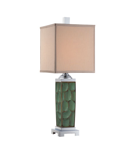 Quoizel Lighting Marina 1 Light Table Lamp in Green CKMR1471T photo