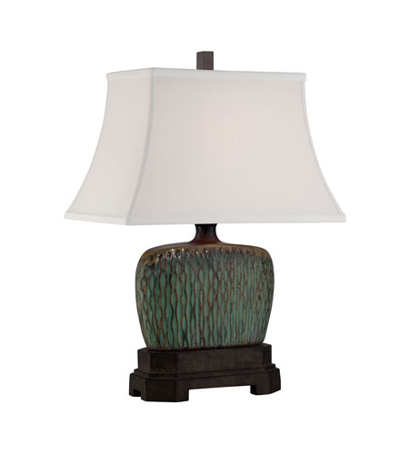Quoizel Lighting Niagra 1 Light Table Lamp in Green and Brown CKNA1470T photo