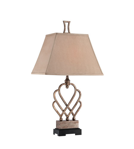 Quoizel Lighting Triheart 1 Light Table Lamp in Antique Brass CKTH1483T photo