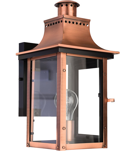 Quoizel Lighting Chalmers 1 Light Outdoor Wall Lantern in Aged Copper CM8408AC photo