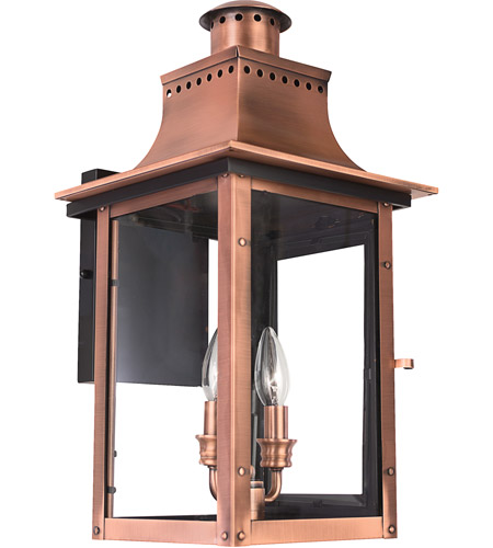 Quoizel Lighting Chalmers 2 Light Outdoor Wall Lantern in Aged Copper CM8410AC photo
