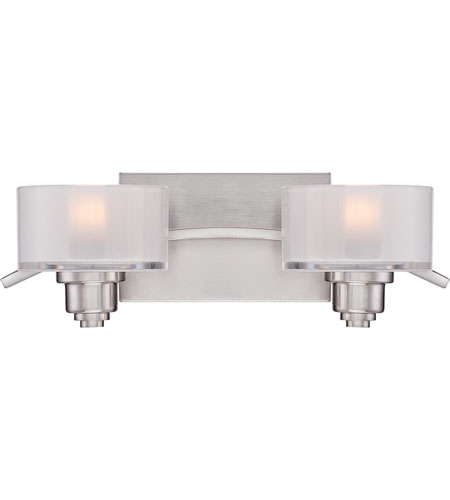 Quoizel lighting camber 2 light bath vanity in brushed for Z gallerie bathroom lights