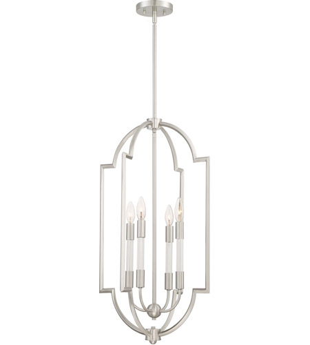Quoizel Brushed Nickel Chandeliers