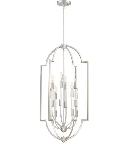 Quoizel CPL5208BN Chapel 8 Light 20 inch Brushed Nickel Foyer Chandelier Ceiling Light photo thumbnail