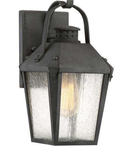 Outdoor Carriage Garage Lights: Quoizel CRG8406MB Carriage 1 Light 12 Inch Mottled Black