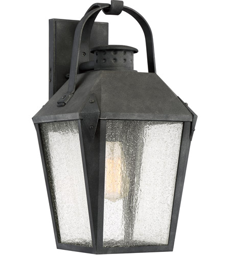Outdoor Carriage Garage Lights: Quoizel CRG8410MBFL Carriage 1 Light 19 Inch Mottled Black