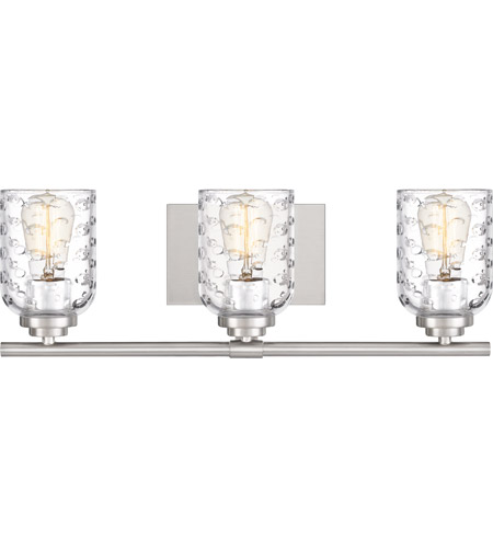 Quoizel CRI8603BN Cristal 3 Light 21 inch Brushed Nickel Vanity Light Wall Light photo thumbnail