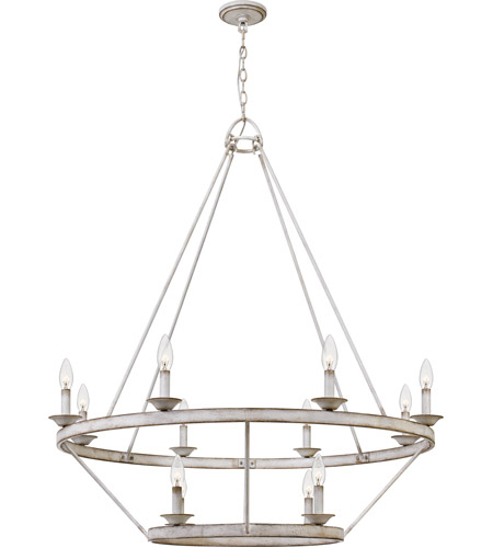 Quoizel Crl5012awh Corral 12 Light 39 Inch Antique White Chandelier Ceiling Light
