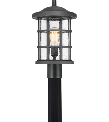 Outside Lights No Earth: Quoizel CSE9010EK Crusade 1 Light 17 Inch Earth Black