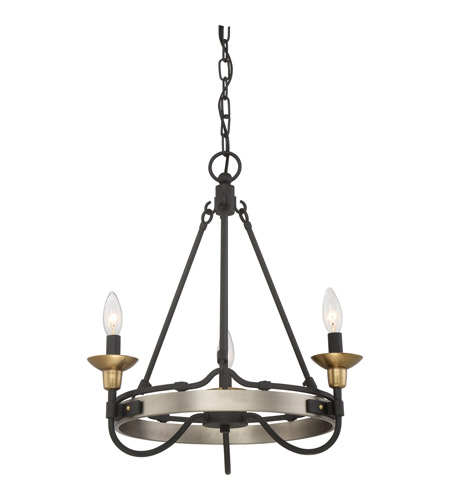 Castle Hill 3 Light 19 Inch Antique Nickel Chandelier Ceiling In B10 Candelabra Base