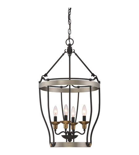 Castle Hill 4 Light 17 Inch Antique Nickel Foyer Chandelier Ceiling In B10 Candelabra Base