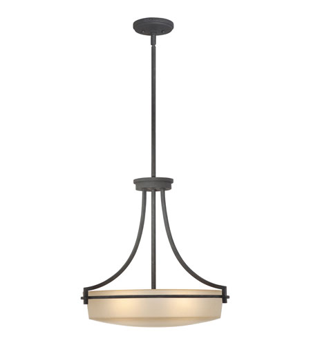 Quoizel Lighting Caitlyn 4 Light Pendant in Grey Ash CTL2822GK photo