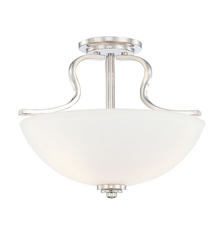 Quoizel Lighting Carter 3 Light Semi-Flush Mount in Imperial Silver CTR1717IS photo