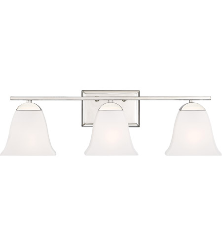 Quoizel CTW8603PK Crestwood 3 Light 24 inch Polished Nickel Bath Light Wall Light photo thumbnail