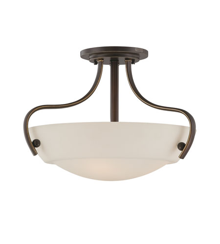 Quoizel Lighting Chantilly 3 Light Semi-Flush Mount in Palladian Bronze CY1718PN photo