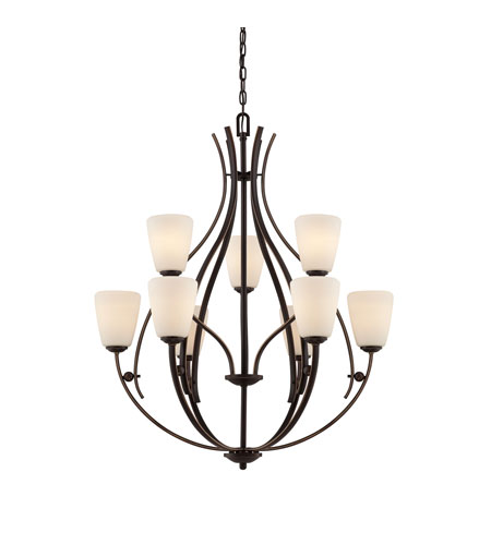 Quoizel Lighting Chantilly 9 Light Chandelier in Palladian Bronze CY5009PN photo