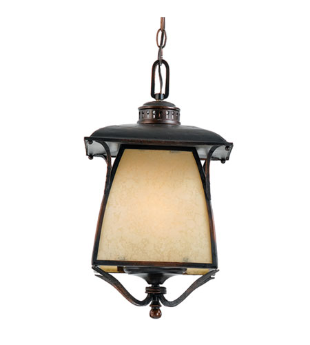 Quoizel Lighting Cozy Cottage 3 Light Outdoor Hanging Lantern in Burnished Copper CZ1911BD photo