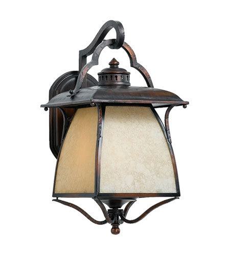 Quoizel Lighting Cozy Cottage 3 Light Outdoor Wall Lantern in Burnished Copper CZ8411BD